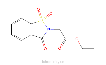 CAS:24683-20-3_2,3-二氢-3-氧代-1,2-苯并异噻唑-2-乙酸乙酯-1,1-二氧化物的分子结构