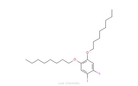CAS:248277-14-7_1,2-二碘-4,5-二正辛氧基苯的分子结构