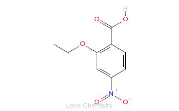 CAS:2486-66-0_2-乙氧基-4-硝基苯甲酸的分子结构