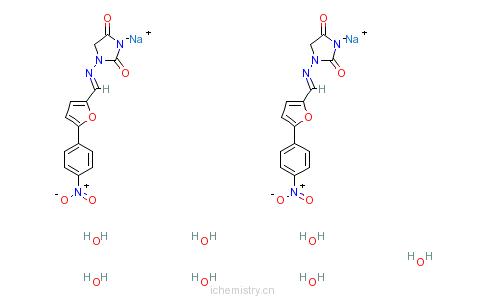 CAS:24868-20-0_丹曲林钠的分子结构