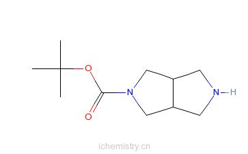 CAS:250275-15-1_cis-2-Boc-六氢吡咯并[3,4-c]吡咯的分子结构