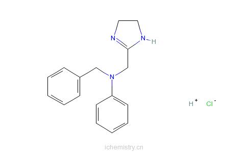 CAS:2508-72-7_盐酸安他唑啉的分子结构