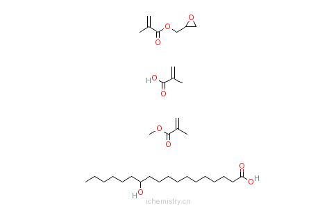 CAS:25101-94-4_12-羟基十八酸与2-甲基-2-丙烯酸甲酯和2-甲基-2-丙烯酸环氧乙基甲酯的聚合物的分子结构