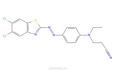 CAS:25176-89-0_3-[[4-[(5,6-二氯苯并噻唑-2-基)偶氮]苯基]乙氨基]丙腈的分子结构