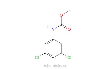 CAS:25217-43-0_3,5-二氯苯基胺基甲酸甲酯的分子结构