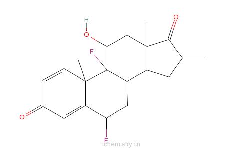 CAS:25256-97-7_(6a,11b,16a)-6,9-二氟-11-羟基-16-甲基雄甾-1,4-二烯-3,17-二酮的分子结构