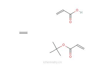 CAS:25266-67-5_2-丙烯酸与2-丙烯酸-1,1-二甲基乙酯和乙烯的聚合物的分子结构