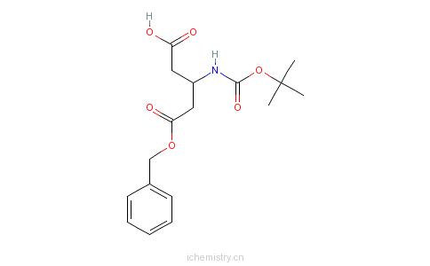 CAS:254101-10-5_Boc-L-beta-谷氨酸5-苄酯的分子结构
