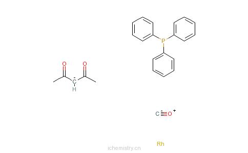 CAS:25470-96-6_三苯基膦乙酰丙酮羰基铑(I)的分子结构