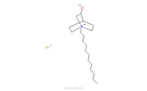 CAS:25527-70-2_1-十二烷基-3-羟基-1-氮杂双环[2.2.2]辛烷溴化物的分子结构