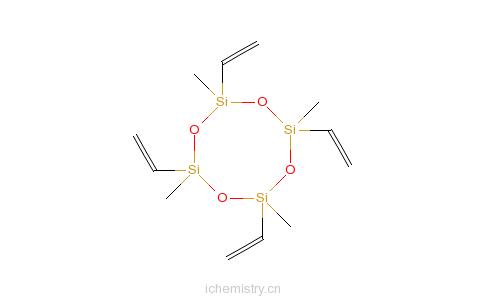 CAS:2554-06-5_四甲基四乙烯基环四硅氧烷的分子结构