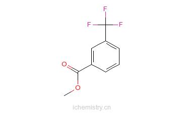 CAS:2557-13-3_3-三氟甲基苯甲酸甲酯的分子结构