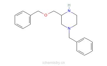 CAS:255723-98-9_(R)-N4-苄基-2-(苄氧基甲基)哌嗪的分子结构