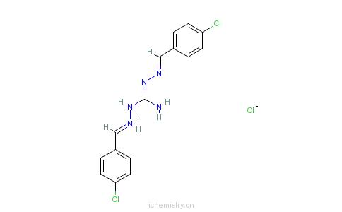 CAS:25875-50-7_盐酸氯苯胍的分子结构