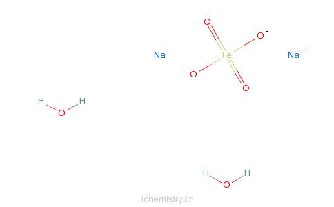 CAS:26006-71-3_二水碲酸钠的分子结构