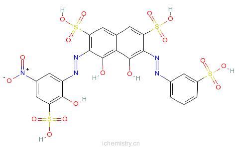 CAS:26069-45-4_硝基磺酚M的分子结构
