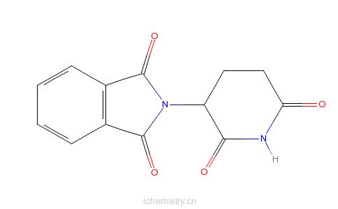CAS:2614-06-4_(+)-沙利度胺的分子结构