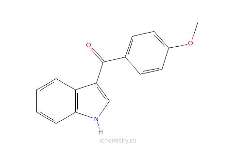 CAS:26211-90-5_(4-Methoxyphenyl)(2-methyl-1H-indol-3-yl)methanone的分子结构