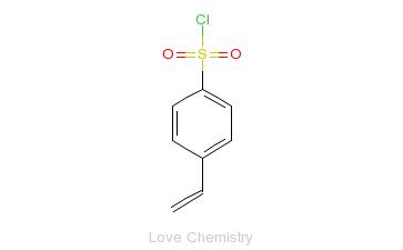 CAS:2633-67-2_对-苯乙烯磺酰氯的分子结构