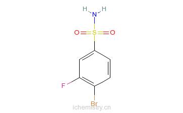 CAS:263349-73-1_4-溴-3-氟苯磺酰胺的分子结构