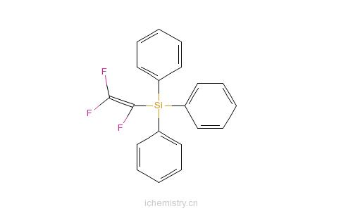CAS:2643-25-6_1,2,2-三氟乙烯基三苯基硅烷的分子结构
