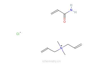 CAS:26590-05-6_聚季铵盐-7的分子结构