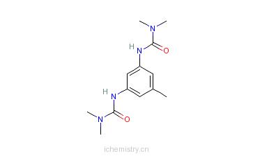 CAS:26604-41-1_N,N''-(甲基-1,3-亚苯基)双(N',N'-二甲基)脲的分子结构