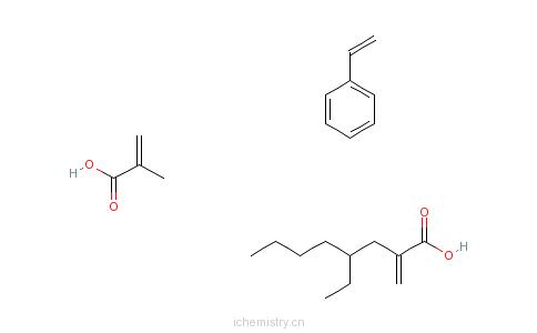 CAS:26636-08-8_苯乙烯、丙烯酸甲酯、丙烯酸-2-乙基己酯的共聚物的分子结构