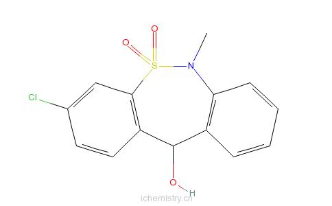 CAS:26723-60-4_3-氯-6,11-二氢-6-甲基二苯并[c,f][1,2]硫氮杂卓-11-醇5,5-二氧化物的分子结构