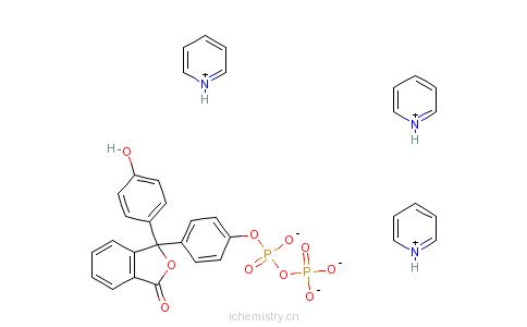 CAS:267240-23-3_酚酞二磷酸酯吡啶盐的分子结构