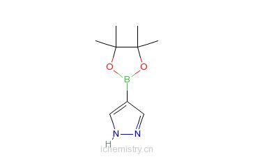 CAS:269410-08-4_4-吡唑硼酸频哪醇酯的分子结构