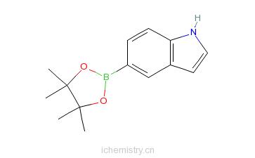 CAS:269410-24-4_5-吲哚硼酸频哪醇酯的分子结构