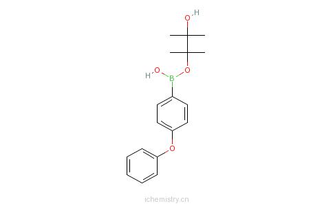 CAS:269410-26-6_苯氧基苯-4-硼酸频哪醇酯的分子结构