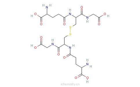CAS:27025-41-8_L-谷胱甘肽(氧化型)的分子结构