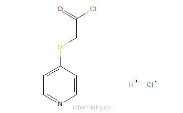 CAS:27230-51-9_4-吡啶巯基乙酰氯盐酸盐的分子结构