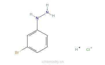 CAS:27246-81-7_3-溴苯肼盐酸盐的分子结构