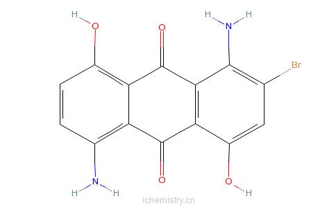 CAS:27312-17-0_1,5-二氨基-2-溴-4,8-二羟基蒽醌的分子结构