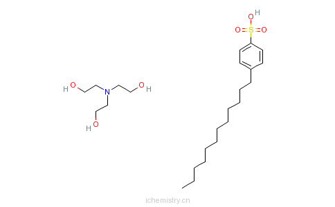 CAS:27323-41-7_十二烷基苯磺酸、三乙醇胺的化合物的分子结构