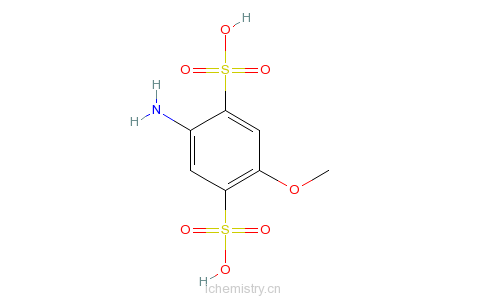 CAS:27327-48-6_4-甲氧基苯胺-2,5-二磺酸的分子结构