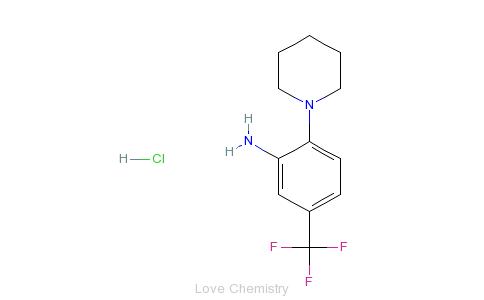 CAS:27429-68-1_N-(2-氨基-4-三氟甲苯基)哌啶的分子结构