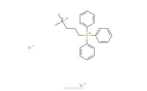 CAS:27710-82-3_[3-(二甲基氨基)丙基]三苯基磷溴化物氢溴酸盐的分子结构