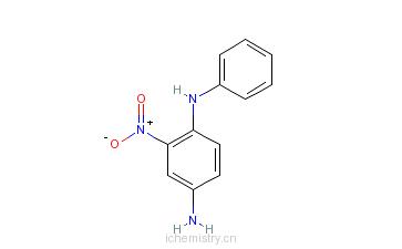 CAS:2784-89-6_2-硝基-4-氨基二苯胺的分子结构