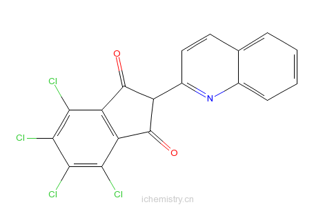 CAS:27908-75-4_4,5,6,7-四氯-2-(2-喹啉基)1H-茚-1,3(2H)-二酮的分子结构
