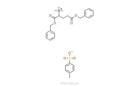 CAS:2791-84-6_L-谷氨酸双苄酯对甲苯磺酸盐的分子结构