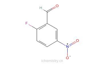 CAS:27996-87-8_2-氟-5-硝基苯甲醛的分子结构