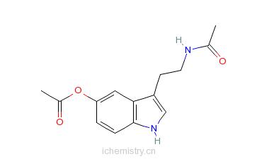 CAS:28026-16-6_N-乙酰基-5-乙酸色胺的分子结构