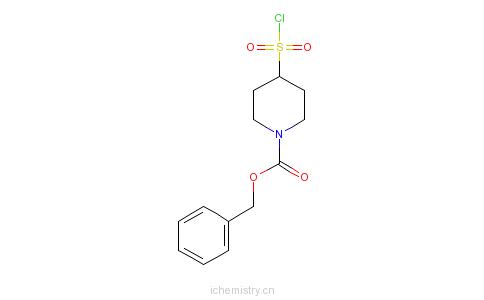 CAS:287953-54-2_N-苄氧羰基-4-哌啶磺酰氯的分子结构