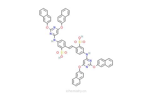 CAS:28837-52-7_4,4'-二[2,6-二(2-萘氧基)嘧啶-4-基氨基]-1,2-二苯乙烯二磺酸的分子结构