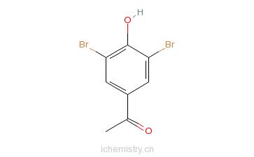 CAS:2887-72-1_3',5'-二溴-4'-羟基苯乙酮的分子结构