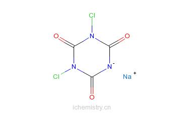 CAS:2893-78-9_二氯异氰尿酸钠的分子结构